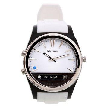 Martian Notifier Smart Watch - White/Black (MN200WBW)