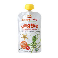 Happy Baby Organic Baby Food: Stage 2 / Homestyle Meals Peas Beans Spinach