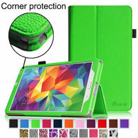 Fintie Folio Case Slim Fit Premium Vegan Leather Cover for Samsung Tab S 8.4-Inch Tablet, Green