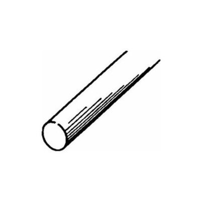 Round Stainless Steel Rod 1/2, Carded