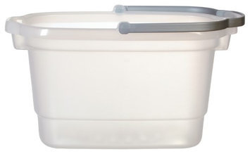 Casabella 4 Gallon Rectangular Bucket, Clear