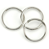 Tandy Leather Factory Leather Factory 211996 Split Key Ring 1.25 in. 10-Pkg-Nickel