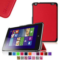 Fintie Lenovo IdeaTab Miix 2 8 Smart Shell Case - Ultra Slim Cover for Lenovo Miix 2 8 Inch Tablet Windows 8.1, Red