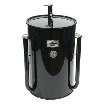 Adventure Marketing Group Inc Gateway 30 Gallon Drum Charcoal Smoker Blue