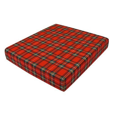 Duro-Med Foam Seat Cushion for Your Wheelchair, Car or Chair, with Cover, Plaid, 3 Inch x 16 Inch x 18 Inch