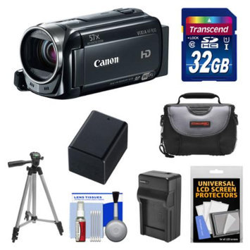 Canon Vixia HF R50 8GB 1080p HD Wi-Fi Digital Video Camcorder with 32GB Card + Battery + Charger + Case + Tripod + Kit