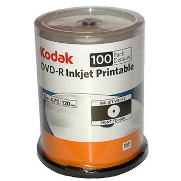 Kodak DVD-R 4.7GB 50 Pack Spindle, White, Ink Jet Printable