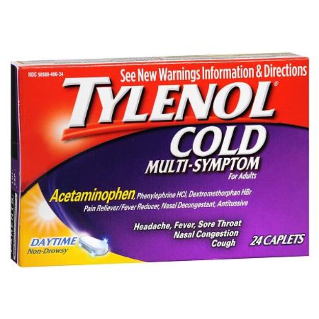 Tylenol Multi-Symptom Caplets for Adults