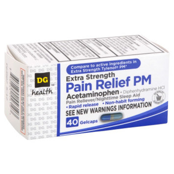 DG Health Pain Relief PM Gelcaps - 40 ct
