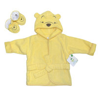 Triboro Quilt Mfg. Corp. Disney Baby Winnie the Pooh Infant's Terry Cloth Robe & Booties - TRIBORO QUILT MFG. CORP.