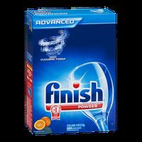 Finish Advanced Dishwasher Detergent Powder Orange Fresh Scent