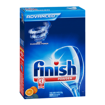 Finish Advanced Dishwasher Detergent Powder Orange Fresh Scent