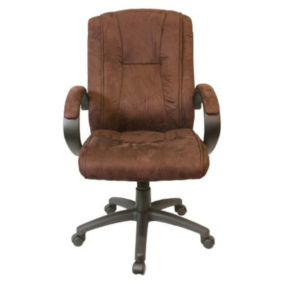 Comfort Products Office Chair: Padded Microfiber Fabric Executive Chair