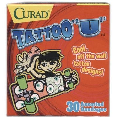 Curad Band Aid Kids, Tattoo U, 30 Assorted Bandages