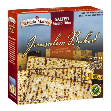 Yehuda Matzos Jerusalem Baked Salted Matzo Thins