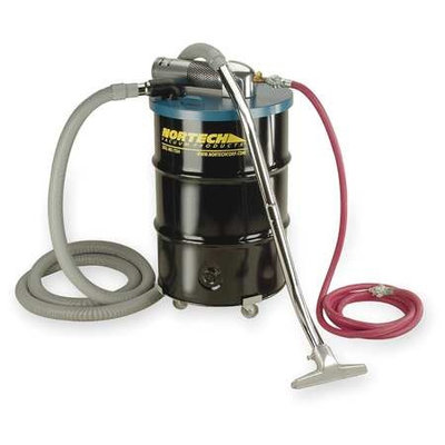 NORTECH Air-Powered Vac - 55-Gallon Capacity