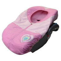 Pistachio Baby Car Seat Cover - Pink Heart