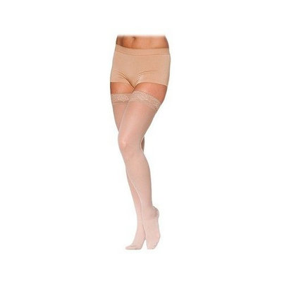 Sigvaris 780 EverSheer 20-30 mmHg Women's Open Toe Thigh High Sock Size: S2, Color: Natural 33