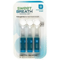 Sweet Breath Sugar-Free Micro Mist Breath Spray, Mint, 3-Count Packages of .06-Ounce Bottles (Pack of 2)