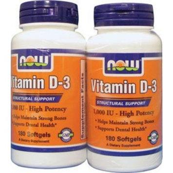 Now Foods Vitamin D3-1000iu, Soft-gels, 360-Count