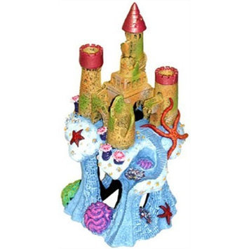 Blue Ribbon Exotic Environments Coral Castle Cavern Aquarium Ornament, 5-1/2-Inch by 5-1/2-Inch by 10-Inch