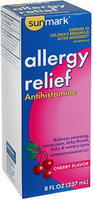Sunmark Allergy Relief Liquid, Cherry 8 oz by Sunmark