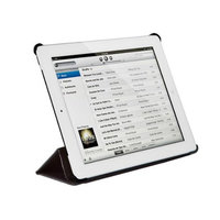 Monoprice Synthetic Leather Stand/Cover with Magnetic Latch for iPad Air™ - Black