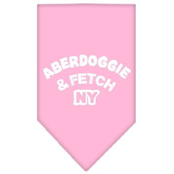 Mirage Pet Products Aberdoggie NY Screen Print Bandana for Pets, Large, Light Pink