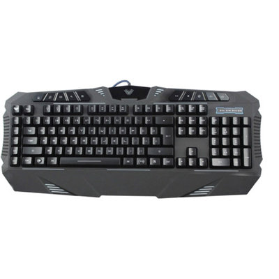AULA DZI SI-862 LED-Backlit Wired Gaming Keyboard, Black