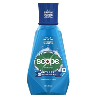 Scope Outlast Mouthwash, Long Lasting Peppermint, 16.9 fl oz