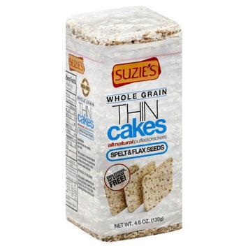 Suzies Suzie's Whole Grain Thin Cakes Spelt & Flax Seeds 4.6 oz