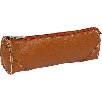 Piel Leather Brush Pencil Bag - Saddle