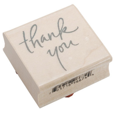 Inkadinkado Wood Mounted Rubber Stamp L-Thank You