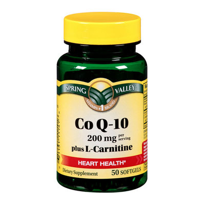 Spring Valley Dietary Supplement Co Q10 With L Carnitine 50 ct