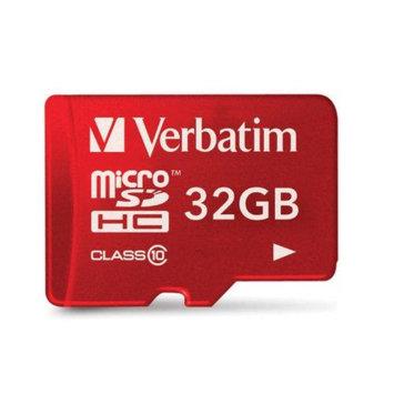 Verbatim VTM44044R Verbatim Class 10 UHS-1 Tablet microSDHC Card 32Gb