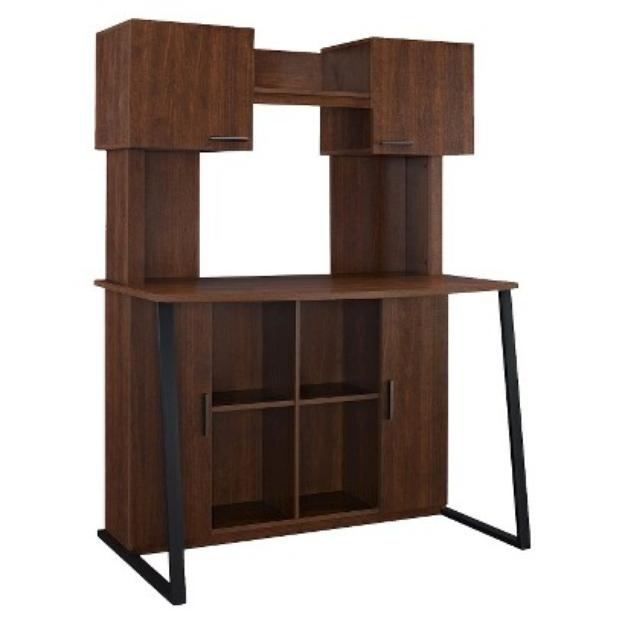 Computer Desk: Ameriwood Computer Desk - Red-Brown (Cherry)