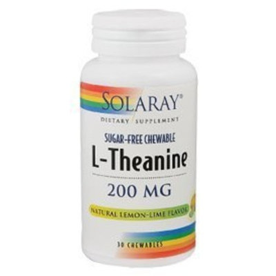 Solaray - L-Theanine 200mg Chewable, 30 chewable wafers