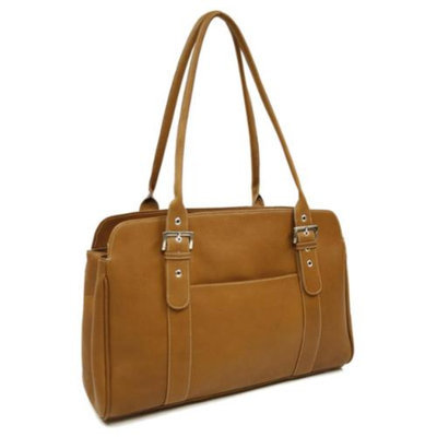 Piel Leather 17 in. Ladies Buckle Business Tote