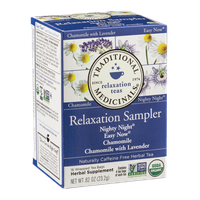 Traditional Medicinals Caffeine Free Herbal Tea Bags Relaxation Sampler - 16 CT