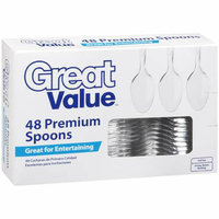 Great Value Premium Clear Spoons