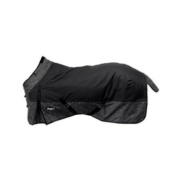 Tough-1 600D Ripstop Poly Waterproof Tooled Leather Print Turnout Sheet 81 Black
