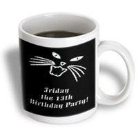 Recaro North 3dRose - Beverly Turner Design - Friday the 13th Birthday Party - 11 oz mug