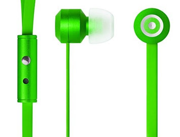 Tenqa 7103 Bullseyes Aluminum Earbuds with Mic and Remote - Green