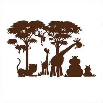 Elephants on the Wall E 5-1414 Large Silhouette Safari P.1