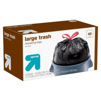 up & up Large Drawstring Trash Bags 30 gal 40 ct