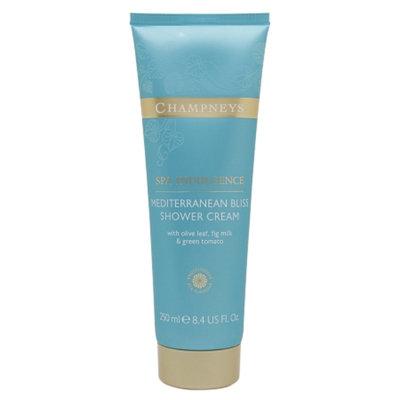 Champneys Mediterranean Bliss Shower Cream, Olive Leaf, Fig Milk, Green Tomato, 8.4 fl oz