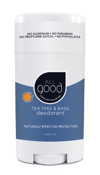 All Good Deodorant Tea Tree & Basil Elemental Herbs 2.5 oz Stick