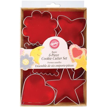 Wilton Metal Cookie Cutters 6/Pkg Basic Shapes