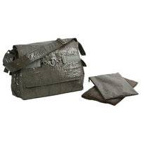 Kalencom Pippen's Messenger Bag, Crackle Platinum