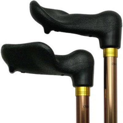 Harvy Unisex Adjustable Palm Grip Cane Bronze Aluminum -Affordable Gift! Item #HAR-9050803